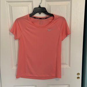 NIKE running Dri-fit coral t-shirt